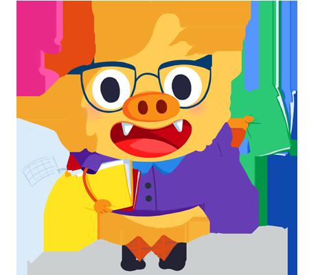 Ilustración de la mascota que acompaña el curso Evaluar para aprender