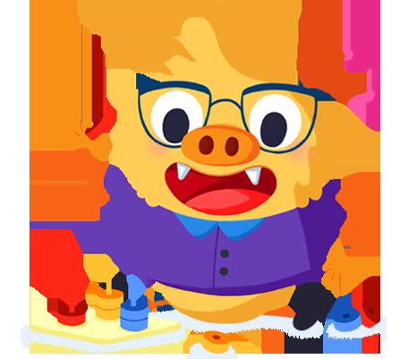 Ilustración de la mascota que acompaña el curso La metodología Montessori o cómo liberar todo el potencial de tus alumnos