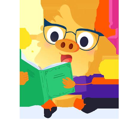 Ilustración de la mascota que acompaña el curso Los cuentos como herramienta de aprendizaje emocional