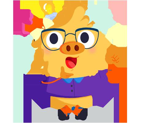 Ilustración de la mascota que acompaña el curso Atención a la diversidad: Altas capacidades